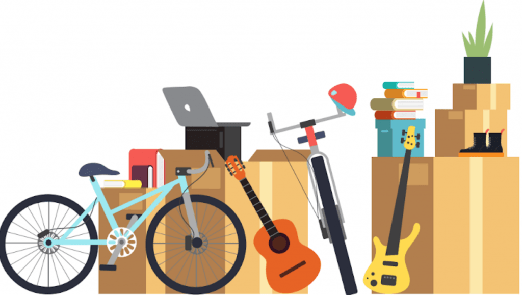 Moving company illustration