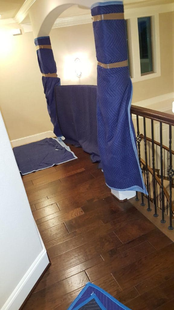 Protecting Stairs during a house move